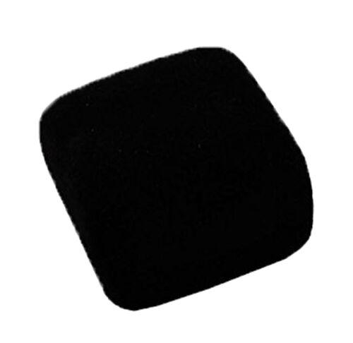 Terciopelo Negro Rebaño Joyería Caja de Regalo-Collar Colgante Pendiente de 5cm X 5cm