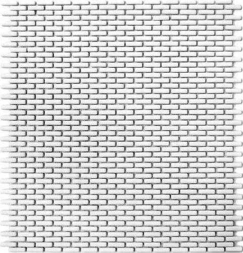Mini Mosaikstäbchen weißmatt Dusche Bad WC Wand Fliesenspiegel WB140-B27W|1Matte