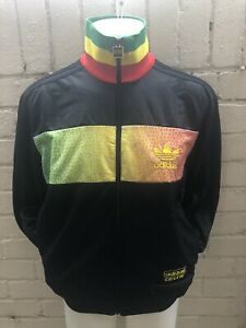 Raro-Adidas-Chile-62-Track-Top-Negro-Chaqueta-Tamano-Rasta-Jamaica