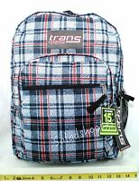 Jansport Trans School Student Backpack Black White Plaid With Tags