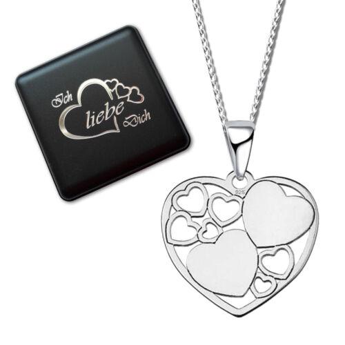 Halskette mit Anhänger Herz Flügel Infinity 925 ECHT Silber Kette für Frauen