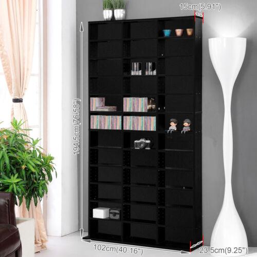 1116 CD Media Storage Shelf Unit DVD Shelves Rack Bookcase Display BLURAY  Stand Black | EBay