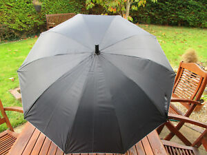Black-with-silver-lining-automatic-opening-umbrella-new