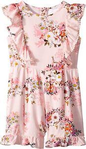 Girls-BCBG-GIRLS-Pink-Floral-Ruffle-Romper-GORGEOUS-Size-12
