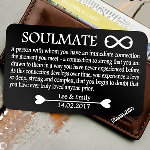 Image Is Loading Personalised Soulmate Wallet Insert I Love You Gifts