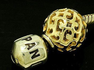 Bd060 - Genuine 9ct 9K Solid Yellow Gold Filigree Scroll LARGE Sphere Bead