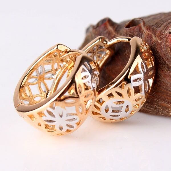 LOVELY 18K Gold Platinum filled engagement cute lady earring