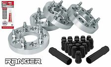 """5x4.5"""" Ford Ranger Staggered Wheel Spacers Kit (2) 1.25"""" & (2) 1.5"""" + Lug Nuts"""
