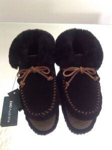 Emu Nest Bnwt Moonah 4 Black Pantofole Uk aarSqgv