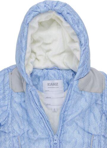 62//68 blau NEU KANZ Baby Winterjacke 68 Jacke für Jungen Gr