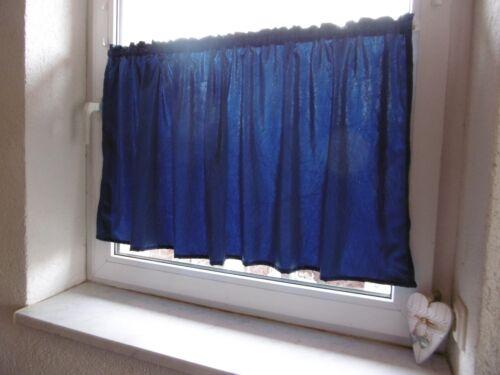 Scheibengardine Blau 140cm x 60cm Fenster 70  BLICKDICHT Sichtschutz Wohnwagen