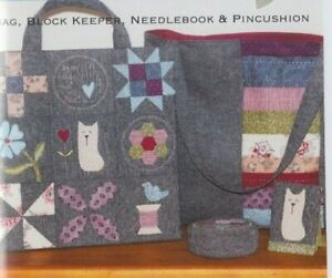 PATTERN-By-My-Hand-bag-block-keeper-needlebook-amp-pincushion-PATTERN