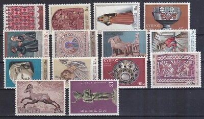 Zypern 1971 Postfrisch Minr Briefmarken 345-358 Zypriotische Kunst Verschiedener Epochen Elegant Und Anmutig