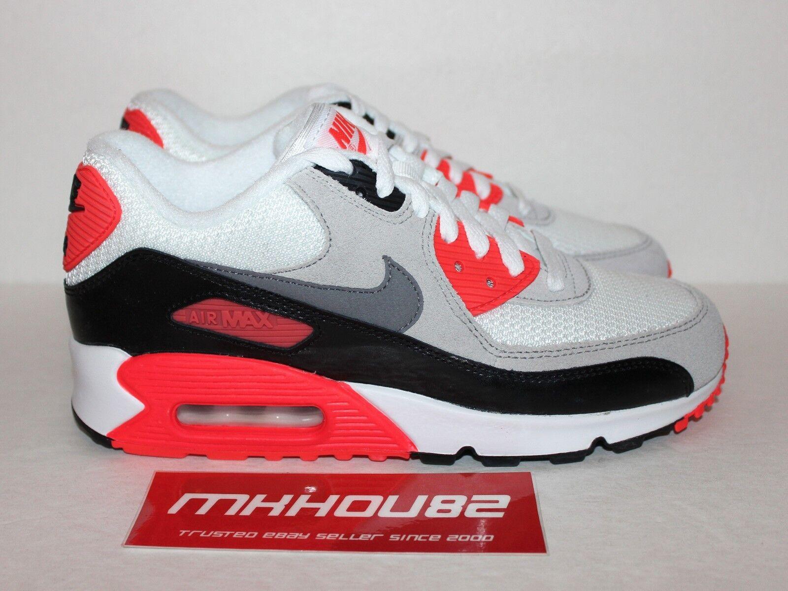 New Nike Air Max 90 Premium Infrared White Shoes Rare Size Uomo 6 Donna 7.5