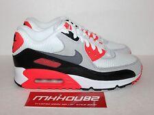 New Nike Air Max 90 Premium Infrared White Shoes Rare Size Men's 6 Women's 7.5