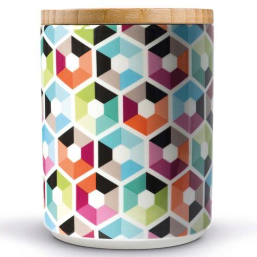 Vorratsdose Vorratsbehälter mit Holzdeckel Keramikdose Kaffeedose Zuckerdose