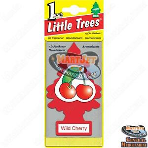 Little Trees: Wild Cherry Scent 1pc Car Mirror Hanging Air Freshener Home Office