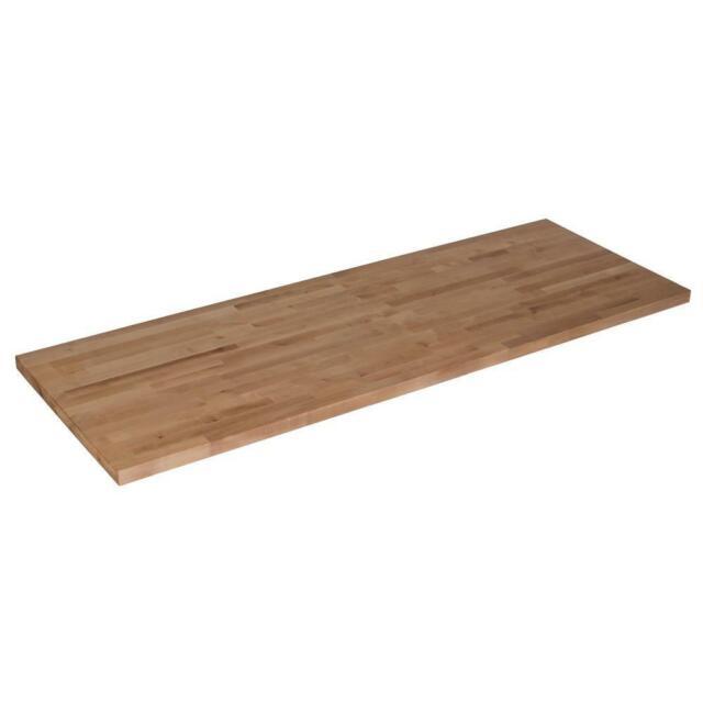 Wood Butcher Block Kitchen Counter Top 50x25x1.5 Cutting Board Unfinished Birch
