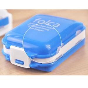 Travel-Weekly-Medicine-Tablet-Holders-Organizer-Dispenser-Case-Pill-Box-Blue-FA