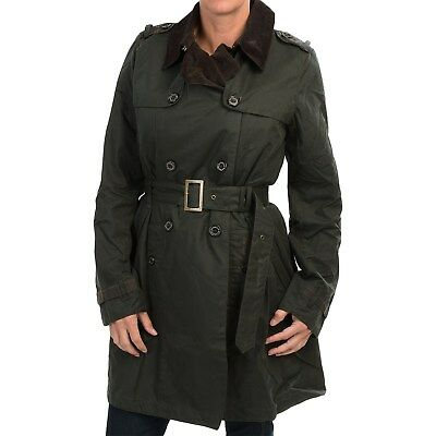 Barbour Ladies Chatsworth Waxed Cotton Trench Coat Ebay