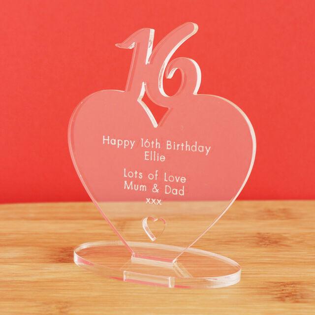 16th Birthday Personalised MILESTONE Heart Keepsake Gift
