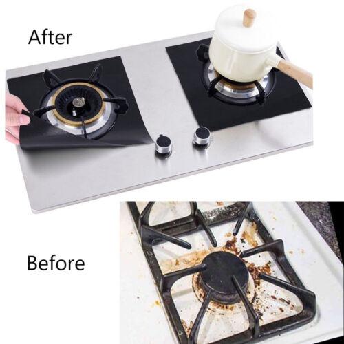 2//4pcs Kitchen Reusable Non-stick Gas Stove Protectors Range Burner Liners Tool