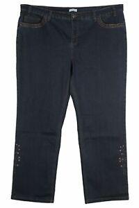 Sheego Lana Stretch Jeans Die Straight Fit Women's Blue Denim plus Size