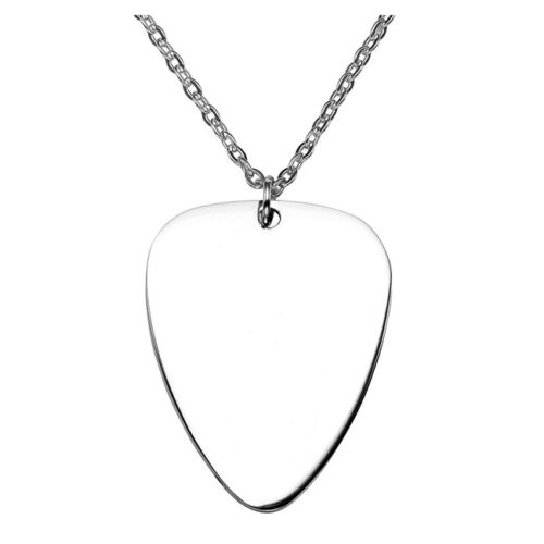 Women/'s Men/'s Stainless Steel Guitar Pick Pendant Necklace Chain Jewelry-am