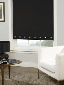 Square-Eyelet-Roller-Blind-Trimmable-Window-Blinds-Office-Home-Black-60cm-x-60cm