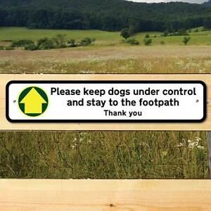 Tenere sotto controllo cani segno, robusto CANCELLO segno, si prega di tenere per il segno di marciapiede  </span>
