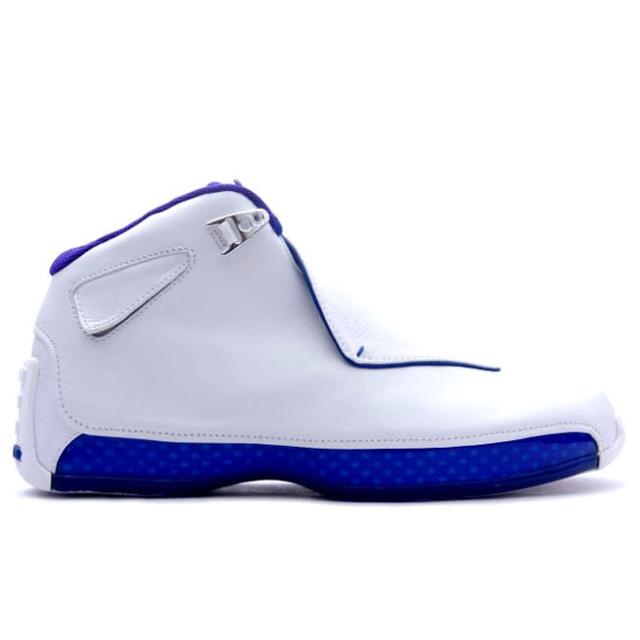 7d9d4fa0fa2 Nike Air Jordan 18 Retro White Royal Blue Silver Aa2494 106 Size 9.5 ...