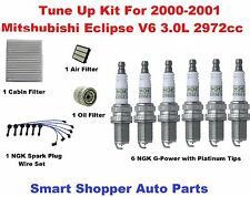 Tune Up Kit for 2000-2001 Mitsubishi Eclipse 3.0L Spark Plug, Air, Cabin Filter