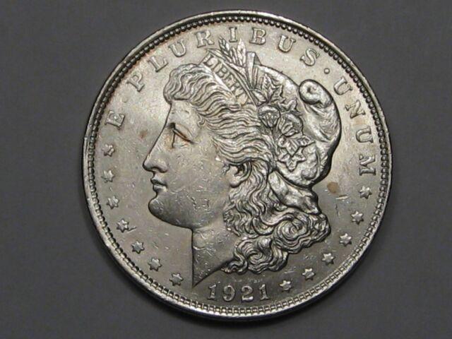 AU+/Unc 1921 Silver US Morgan Dollar.  #20