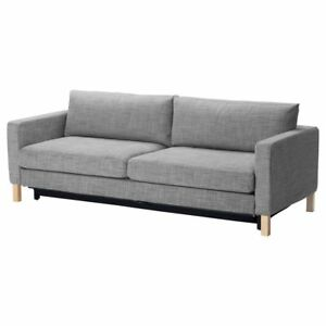 Sensational Details About New Original Ikea Cover Set For Karlstad 3 Seat Sofa Bed In Isunda Grey Uwap Interior Chair Design Uwaporg