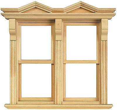 1:12 Scale Double Opening Sash Window Frame Tumdee Dolls House Miniature 183