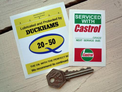CASTROL DUCKHAMS Service stickers Cortina 1600E Capri