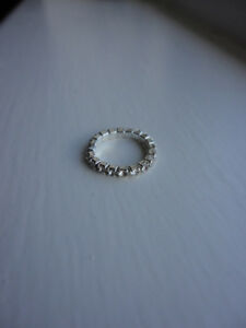 Silver-Tone-amp-Clear-Diamante-Crystal-Elasticated-NEW-Toe-Ring-Post-1st-class