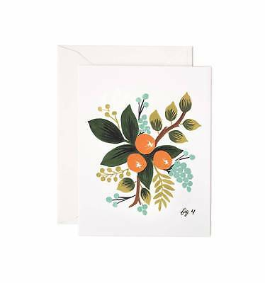 NEW Rifle Paper Co Cards - CLEMENTINE FLORAL, Box of 8, USA Made ECO-friendly