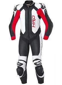 Held-Slade-Une-Piece-1PC-Moto-Cuir-Combinaison-Pilote-Blanc-Rouge