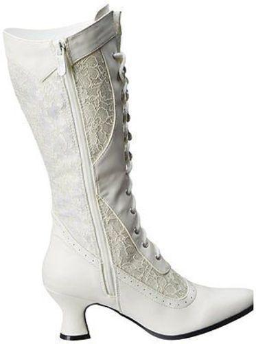 Ellie 253-Rebecca Mid Pointy Toe Lace Up Mid 253-Rebecca Calf Costume Punk Stiefel Heels Schuhes e47b07