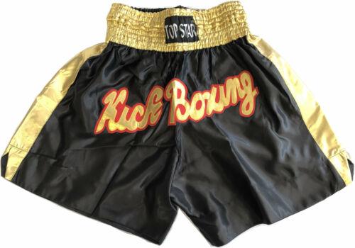 """Thai Short Muay Thaishort Kickboxhose,/""""Go for Gold/"""",schwarz//gold Thaiboxhose"""