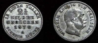 Geschickt 2 1/2 Silbergroschen 1870 A Preussen *** 020