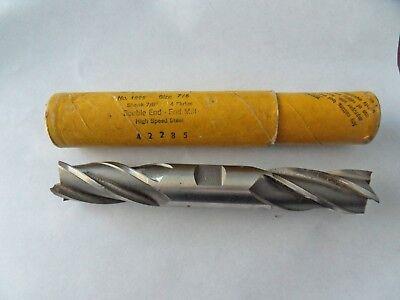 "Morse 2/"" x 1-1//4/"" End Mill HSS Long Length 3 Flute USA Made"