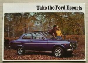 FORD ESCORT Car Sales Brochure Feb 1974 #FAI/Feb74 SPORT Estate 1300E L XL
