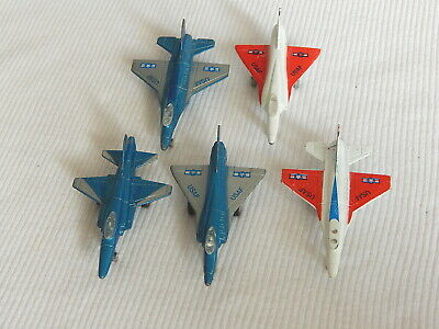 collectable made in China Vintage 1988 Miniature Pull Back Friction Fighter Jet Diecast Metal and Plastic Toy Vehicle by Soma