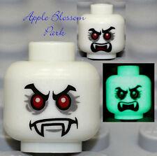 NEW Lego Glow in Dark VAMPYRE MINIFIG HEAD - Vampire/Monster Fighters/Dracula