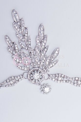 1920s 20s Great Gatsby Headband Vintage Bridal Headpiece Costume Accessory