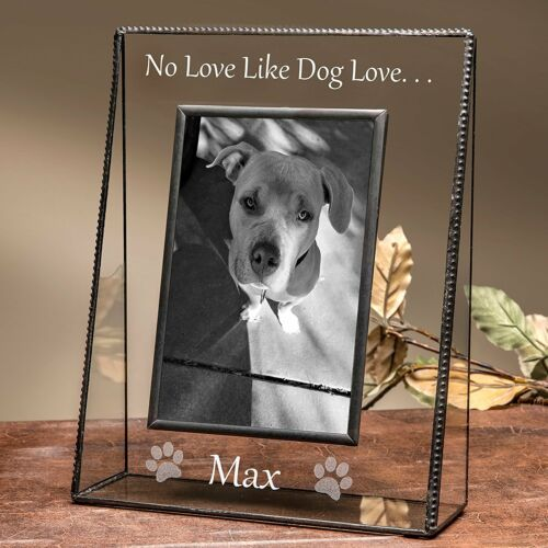 J Devlin Pic 319-46V EP592 Personalized Dog Vertical Engraved Picture Frame 4x6