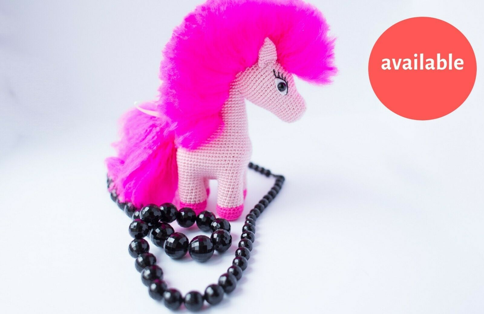 My Little Pony Pinkie Pie 8.27 in Gift for girl girl Knitted toy Amigurumi Crochet