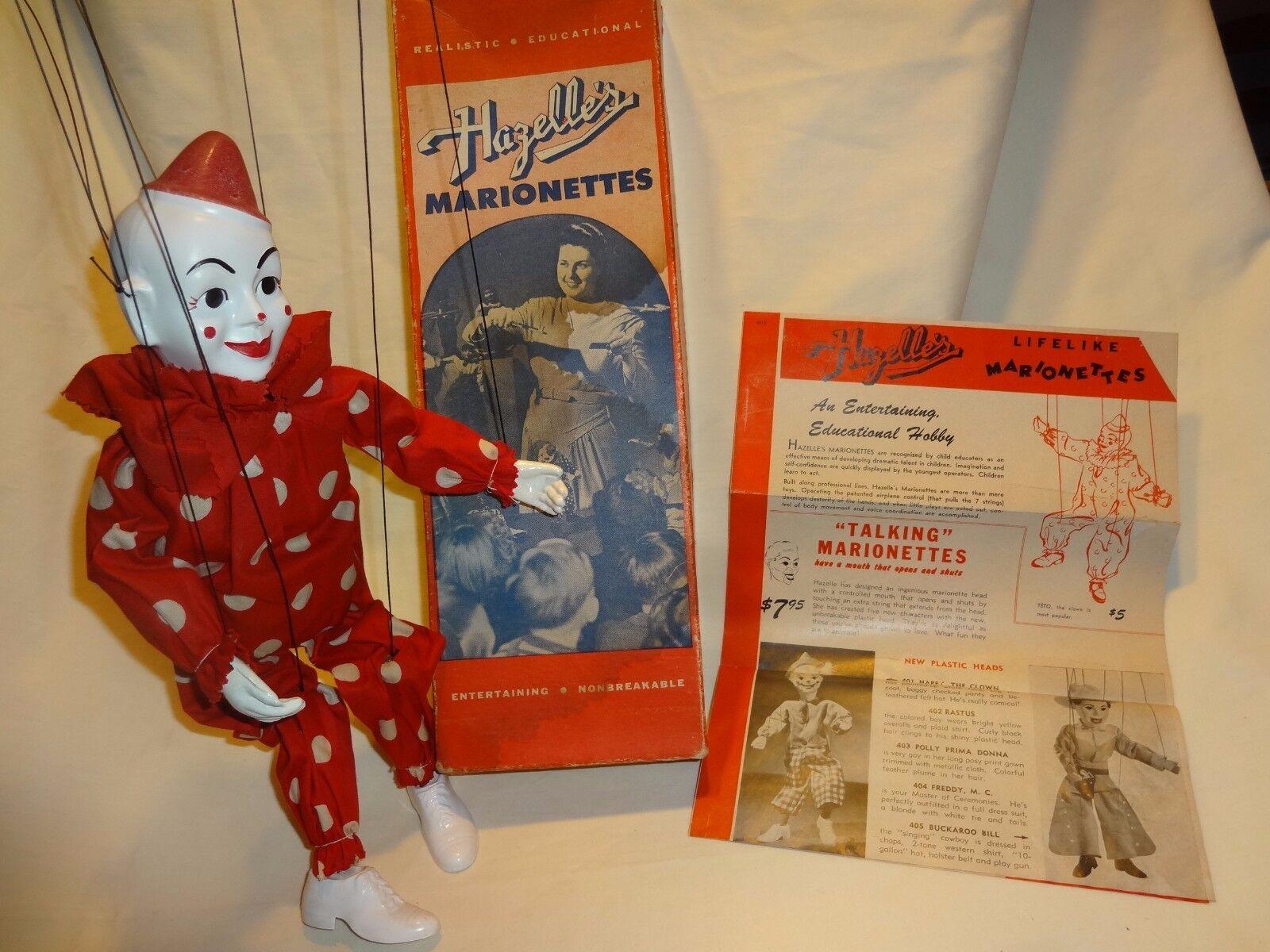 1950's Hazelle's Teto Marionette With Original boxBox